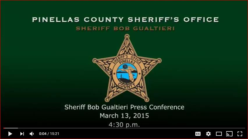 Pinellas County Sheriff Press Conference